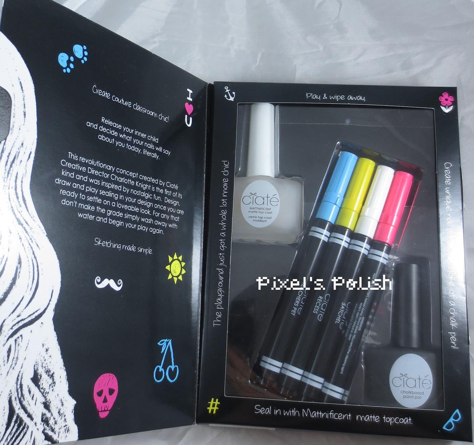 Chalkboard Nail Polish: Pixel's Polish: Ciate Chalkboard Manicure