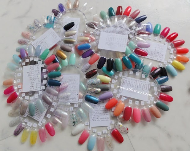 nail polish display wheels