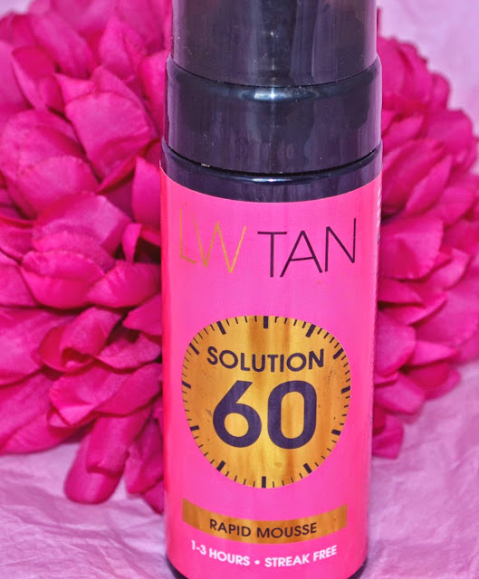 Lauren Goodger - Tan - Lauren's way - Solution 60 - tanning - fake tan - self tan - medium tan - mousse tan - swatches - review - one hour tan