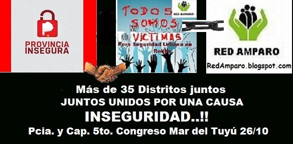 RED AMPARO INVITA A VECINOS AL 5° CONGRESO DE INSEGURIDAD.