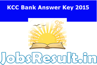 KCC Bank Answer Key 2015