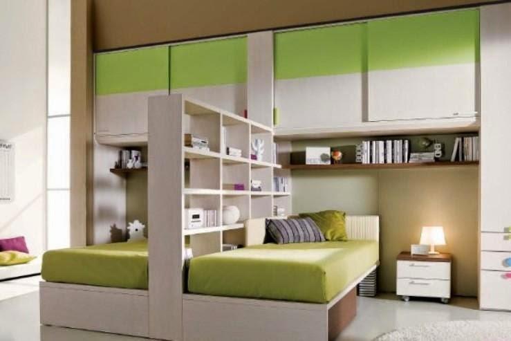 Dormitorio Compartido Para Dos Colores En Casa