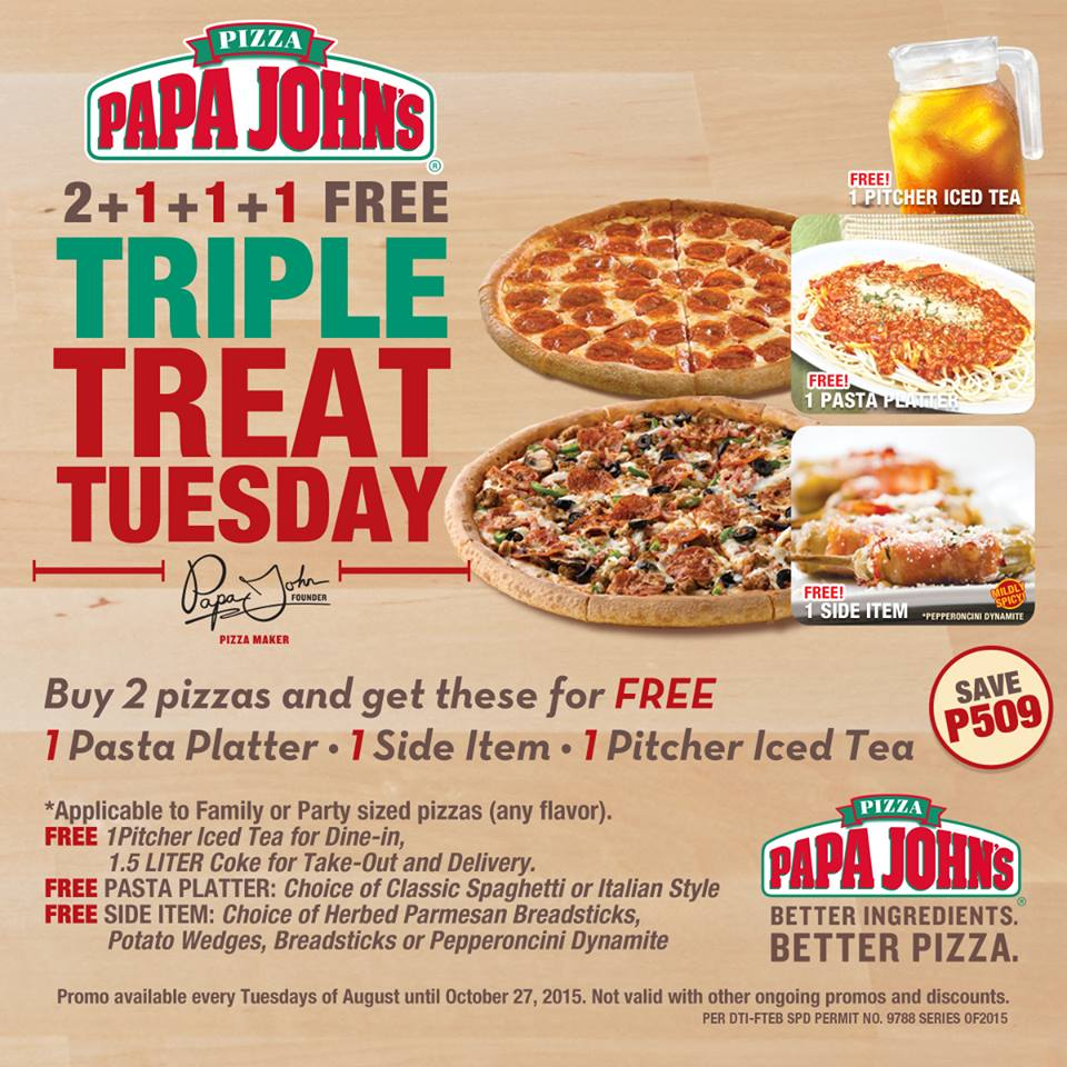 Did someone say Two for Tuesdays at Papa John's?