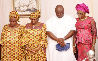 Ambode at Chief Mrs HID Awolowo burial activities