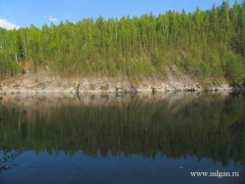 Голубой карьер. Поселок Вишневогорск. Челябинская область.