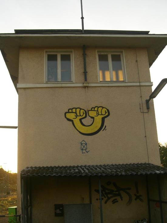 Graffito Kassel Fäuste