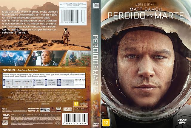 Capa DVD Perdido Em Marte