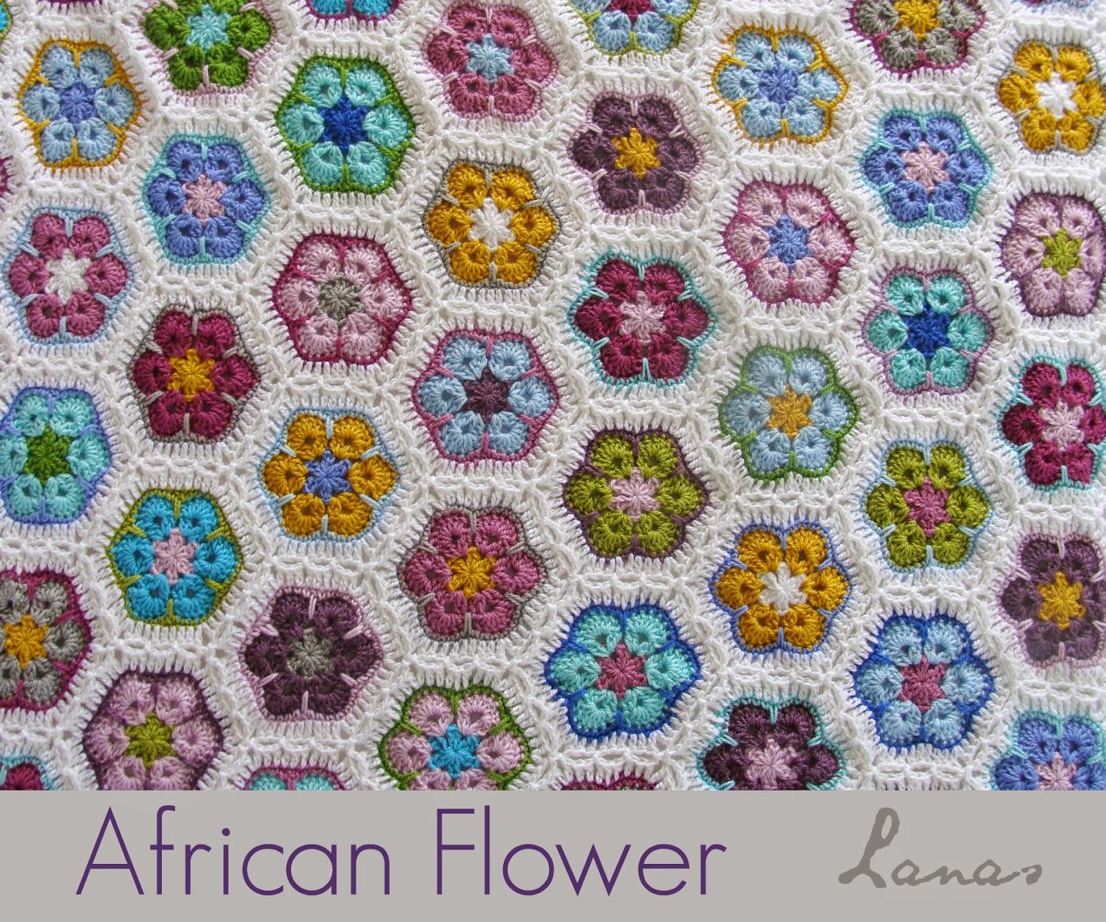 Lanas de Ana: Blanket: African Flowers