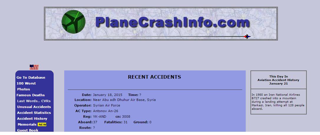 Plane Crash Info