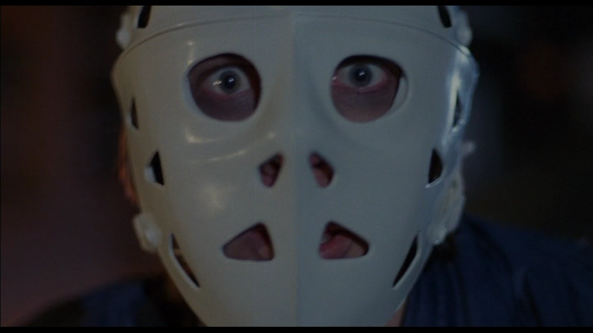 The Bleeder wearing a hockey mask in Alone In The Dark (1982)