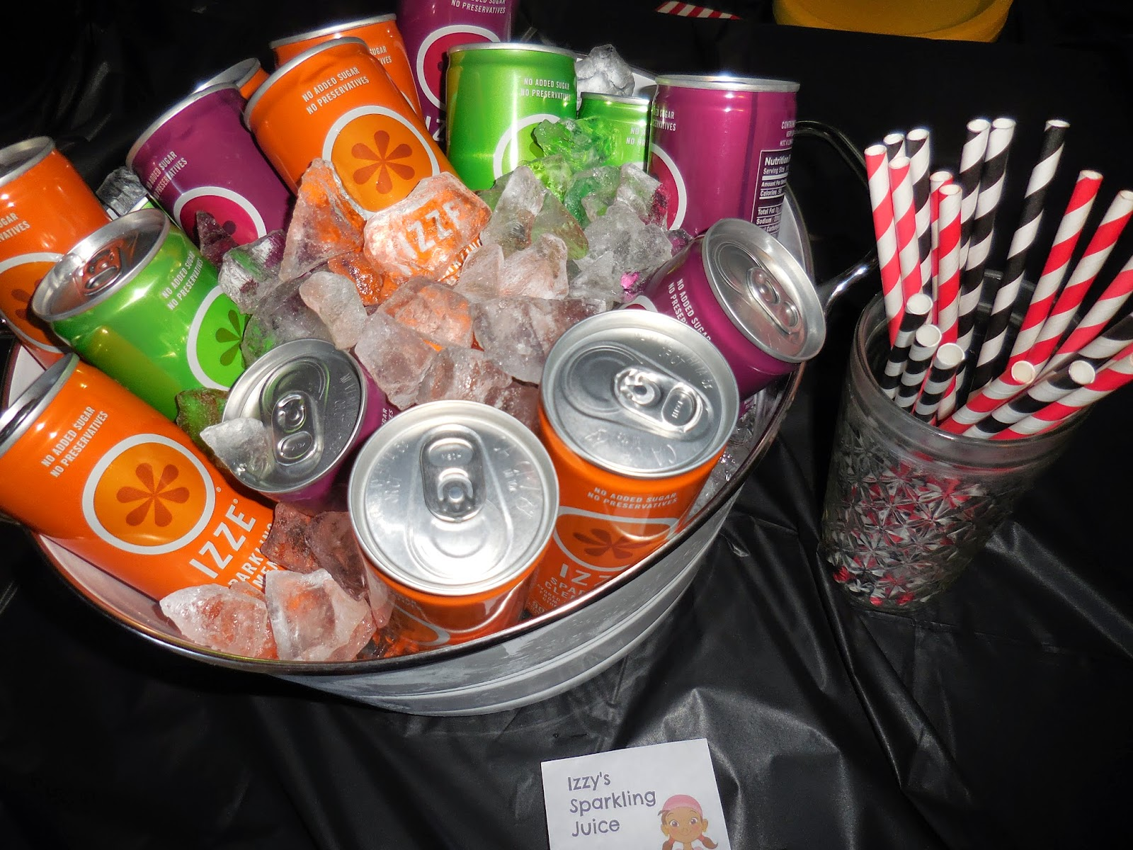 The Izze Juices I Renamed Izzys Carbonated Juice And My Boys Were Delighted It Was A Really Simple Way To Tie In Jake Neverland Pirates