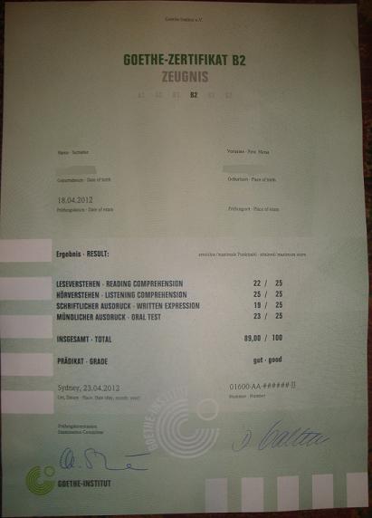 Goethe-Zertifikat-B2 BESTANDEN!!! | Yet Another Language Blog