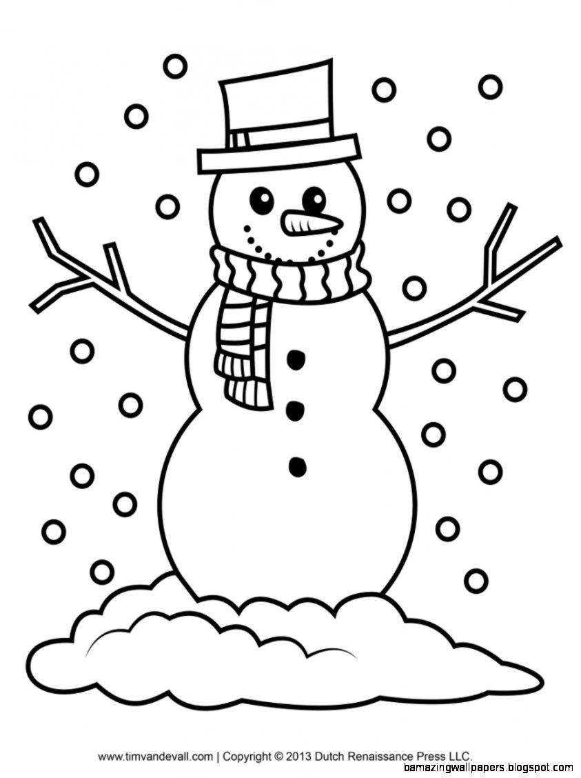 Snowman Coloring Clipart