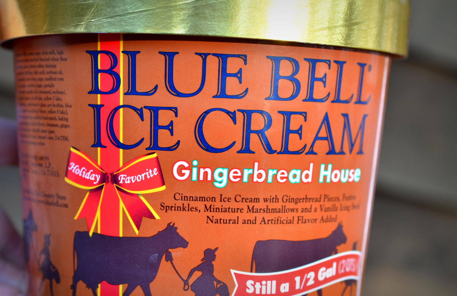 food and ice cream recipes REVIEW Blue Bell Gingerbread House