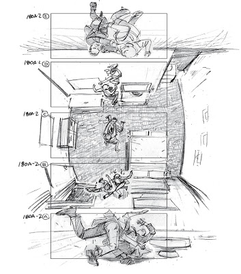 Storyboard - Inception - Zero Gravity Fight Scene