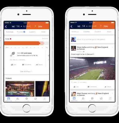 """أطلق موقع التواصل الاجتماعي الشهير """"فيسبوك"""" اليوم  Facebook Sports Stadium وهو مكان مخصص لمحبي ومشجعي الرياضة في العالم في الوقت الحقيقي."""
