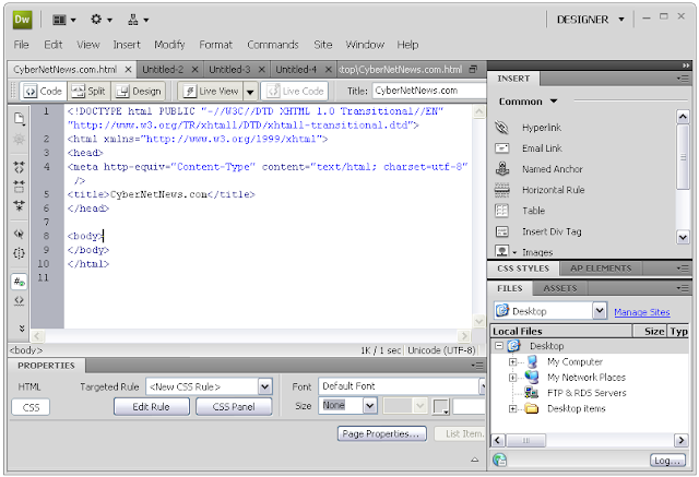 Adobe Dreamweaver CS4 Free Download