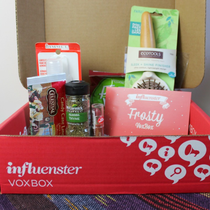Unboxing review Influenster Frosty Vox Box #FrostyVoxBox