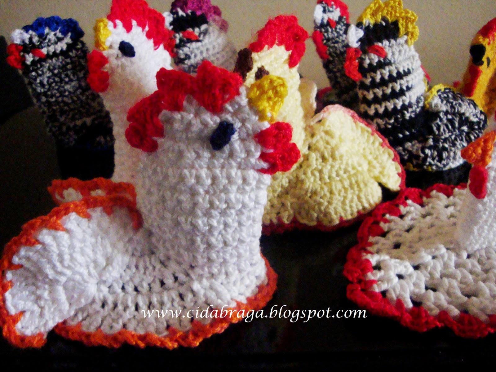 Cozinha e Artes: Galinha de Crochê para bico de Bule