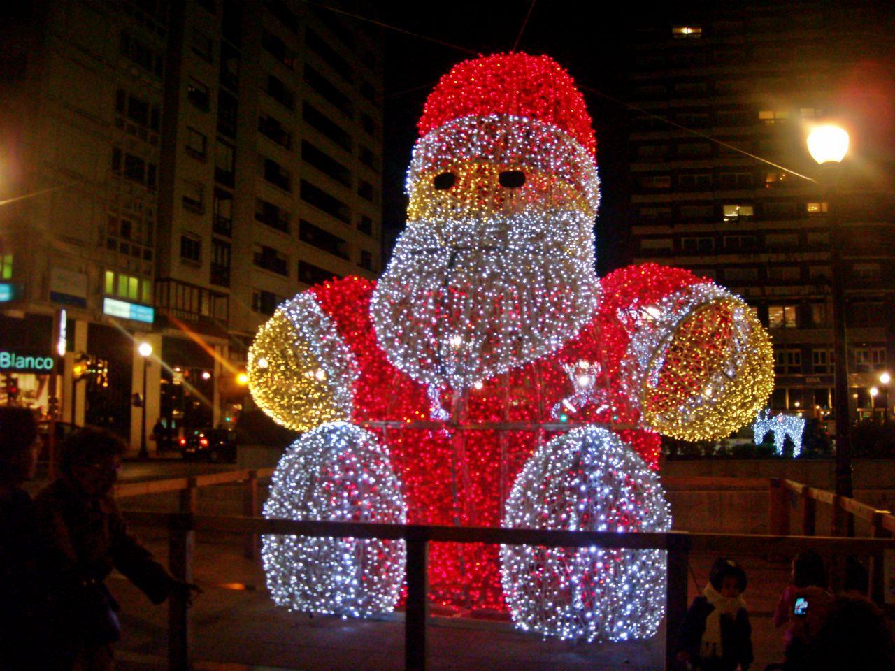Navidad Gijón 2012 papa noel