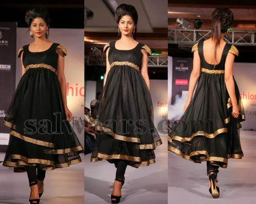 Black Heavy Pleats Salwar