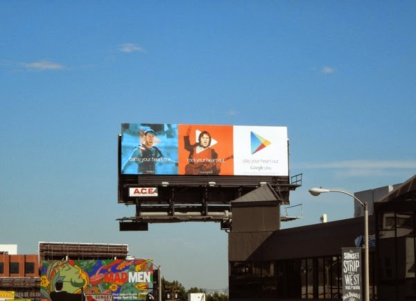 Google Play your heart out films billboard