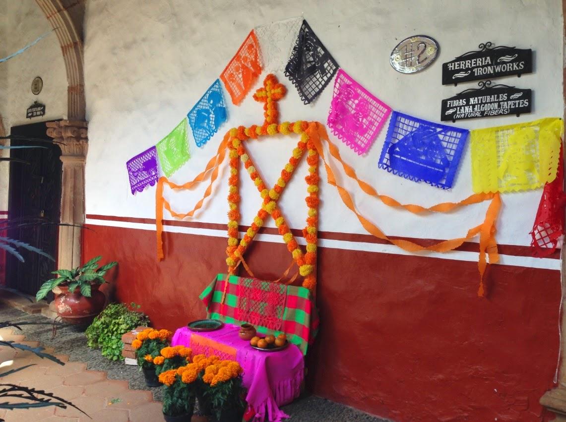 Ofrendas de Día de Muertos en Pátzcuaro en la Casa de los Once Patios