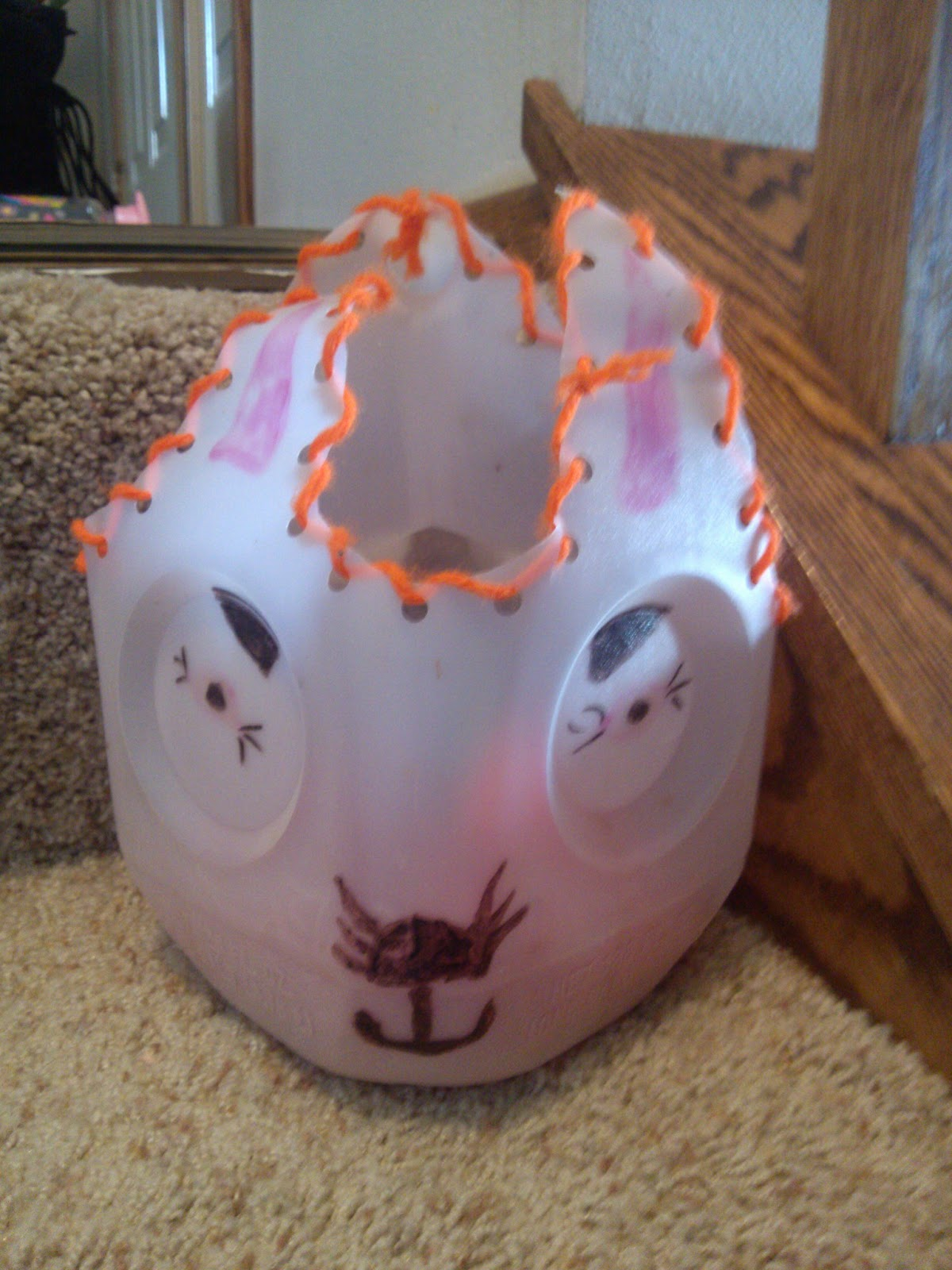 Cheapskate 4 life march 2013 recycled milk jug easter bunny baskets negle Image collections