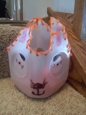 Recycled Milk Jug Easter Bunny Baskets