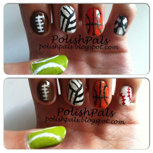 polish pals sports themed nails