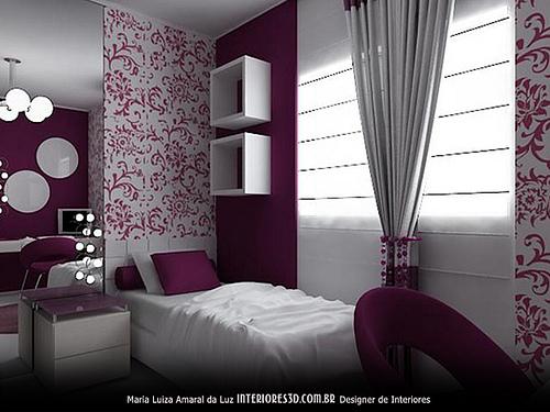 decoracao de interiores de quartos pequenos:Calma, tô quase pronta!: Decoração de quarto/cor de parede