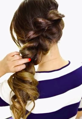 2 Minute Fancy Pony Tail with Braid