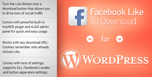 Image for Facebook Like to Download Plugin by CodeCanyon