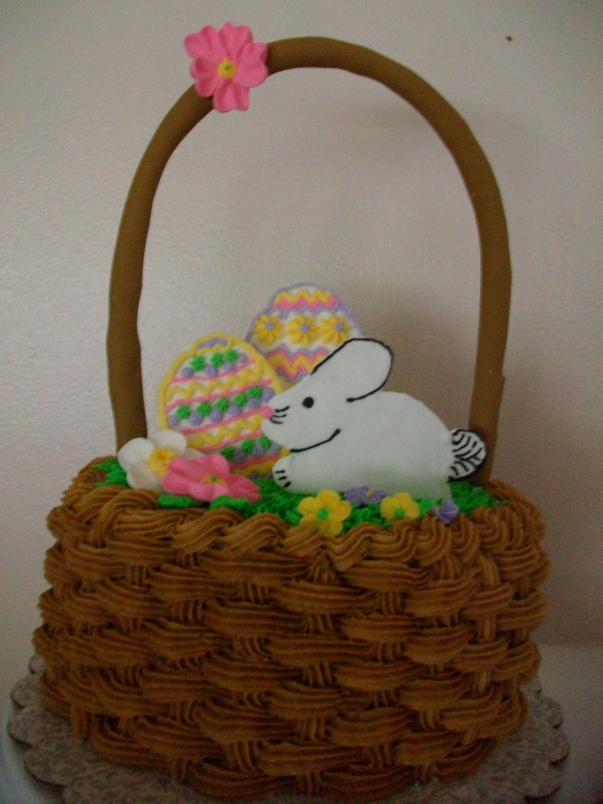How To Make A Basket Of Flowers Cake : Cakes by shameka easter basket cake step