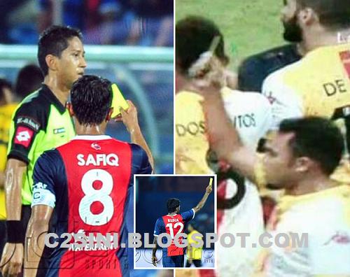 4 Gambar Punca Pengadil Liga Super dilayangkan Kad Kuning oleh pemain terjawap