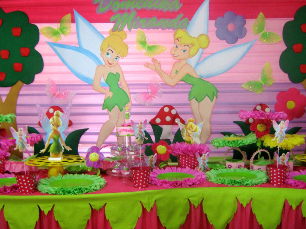 Arreglos para fiesta infantil de campanita imagui for Decoracion cumples infantiles