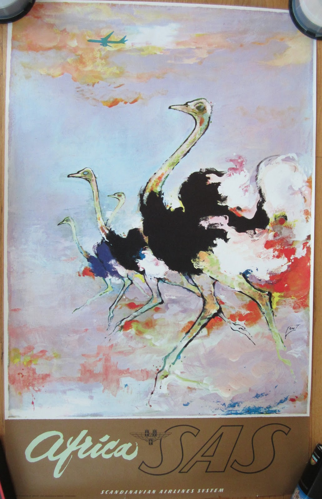sas original vintage posters early 60 s size 24x39 inches