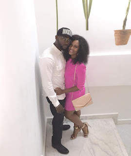 Photos: Osas and Gbenro Ajibade All Loved Up