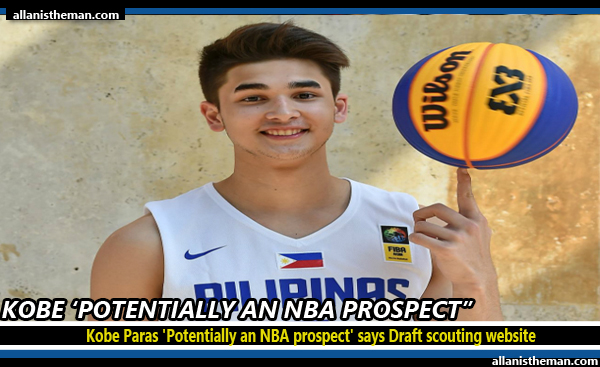 Kobe Paras 'Potentially an NBA prospect' says Draft scouting website
