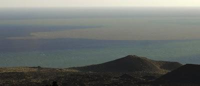 Mancha producto de la erupción volcanica en el Hierro