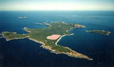 Indahnya Danau Pink di Australia