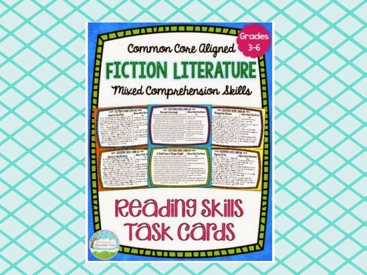 http://www.teacherspayteachers.com/Product/Fiction-Reading-Skills-Task-Cards-Comprehension-Skill-Review--1159329