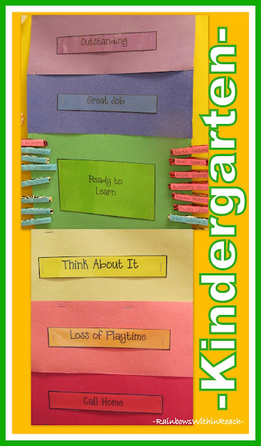 photo of: Kindergarten Behavior Chart via RainbowsWithinReach