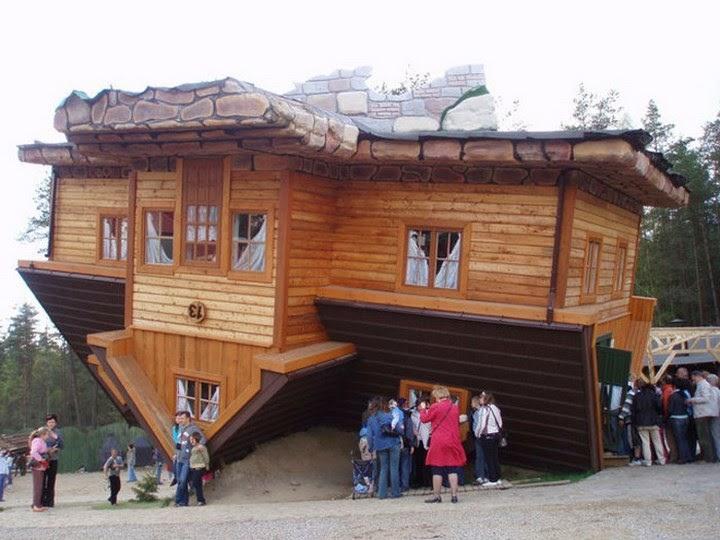 17 unique upside down houses spicytec for Upside down house plans