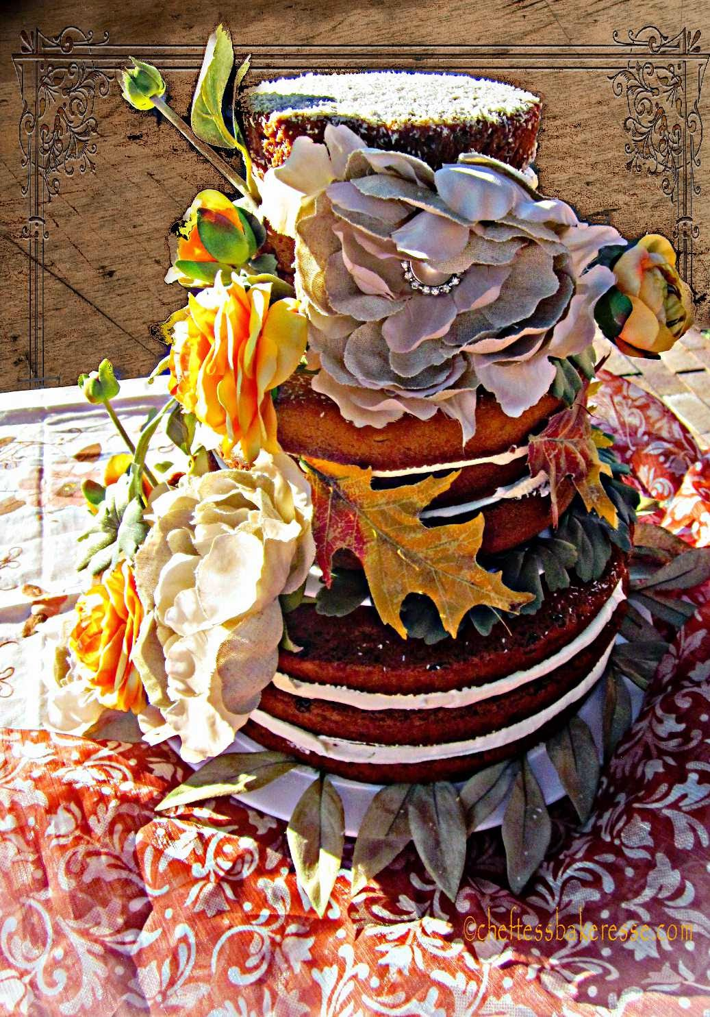 latest wedding cake...country natural fall cake