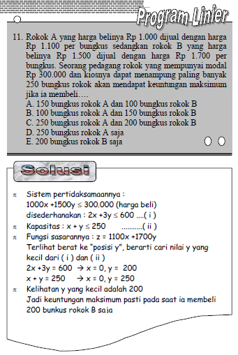 Rumus lENGKAP Program Linear
