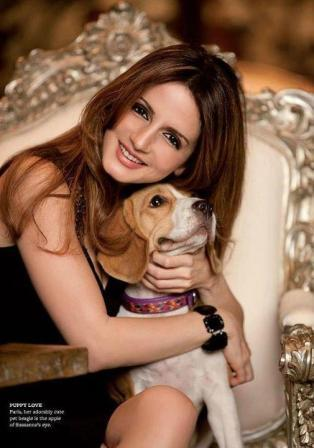 Suzanne Khan Roshan with DOG - Sussanne Roshan's Better Homes Photoshoot (March 2012) - PLANET BOLLYWOOD - By Diptesh Thakore8482;
