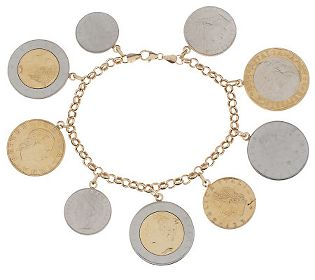 Italian Coin Bracelet Qvc