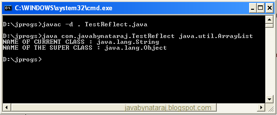 What is Reflection in java_javabynataraj_005
