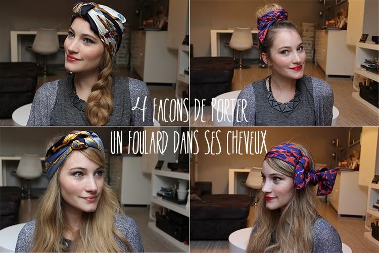 Tiboudnez: ♥ Tutos vidéo - Un foulard dans les cheveux, 4